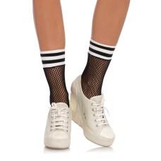 Fishnet athletic anklets Black