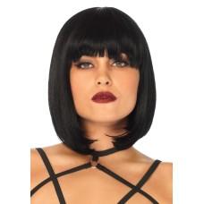 Short natural bob wig Black
