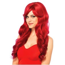 Long wavy wig Red