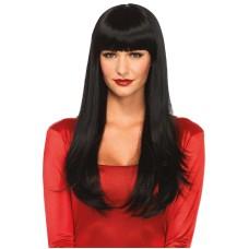 Bangin' long straight wig Black