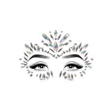 Iris face jewels sticker Transparant