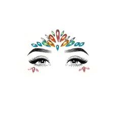 Avri face jewels sticker Multicolor