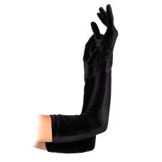Velvet Opera Length Gloves Black