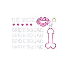 Bride Squad Bodyjewels Sticker Multicolor