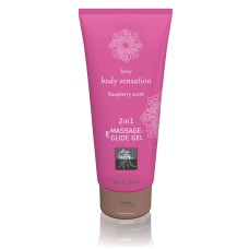 2-in-1 Massage & Glide Gel Raspberry