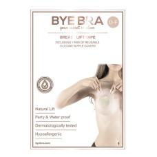 Bye Bra - Breast Lift & Fabric Nipple Covers D-F 3 Pairs