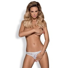 Obsessive - Alabastra Crotchless Thong White L/XL