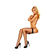 Lapdance - Fencenet Thigh High Black