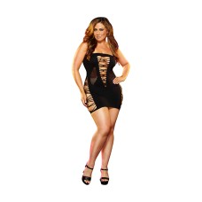 Lapdance - Backroom Mini Dress Black Plus