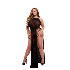 Lapdance - Lace Gown Black Plus