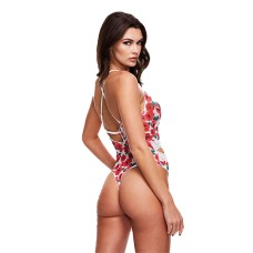 Baci - White Floral & Lace Teddy S/M
